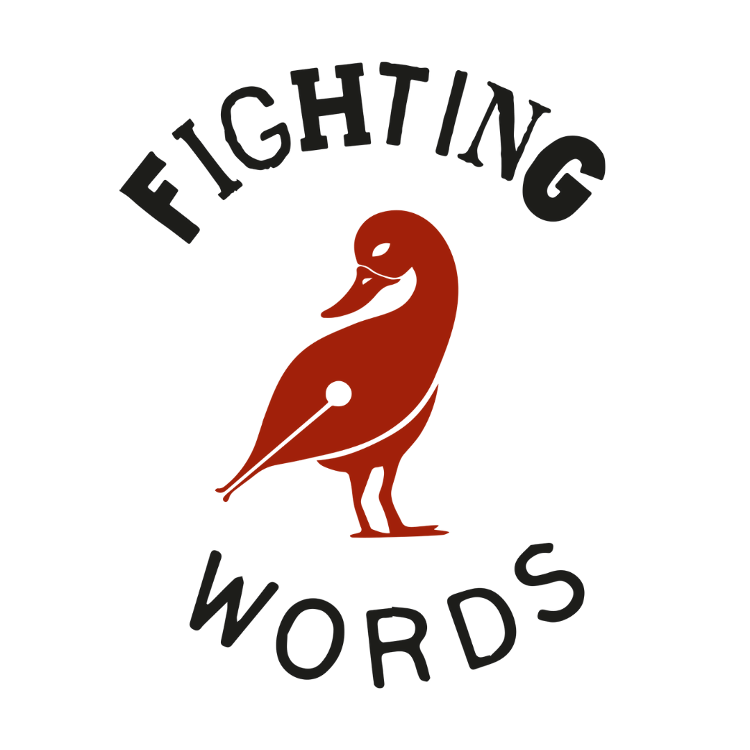 Fighting words belfast logo, click here to visit their page