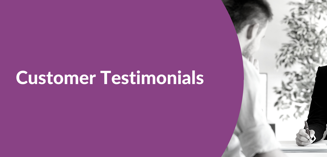 Customer testimonials background for VIable Corporate Services